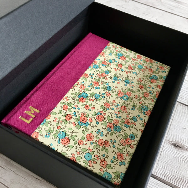 Personalised Notebook, A5, Bullet - Flowers