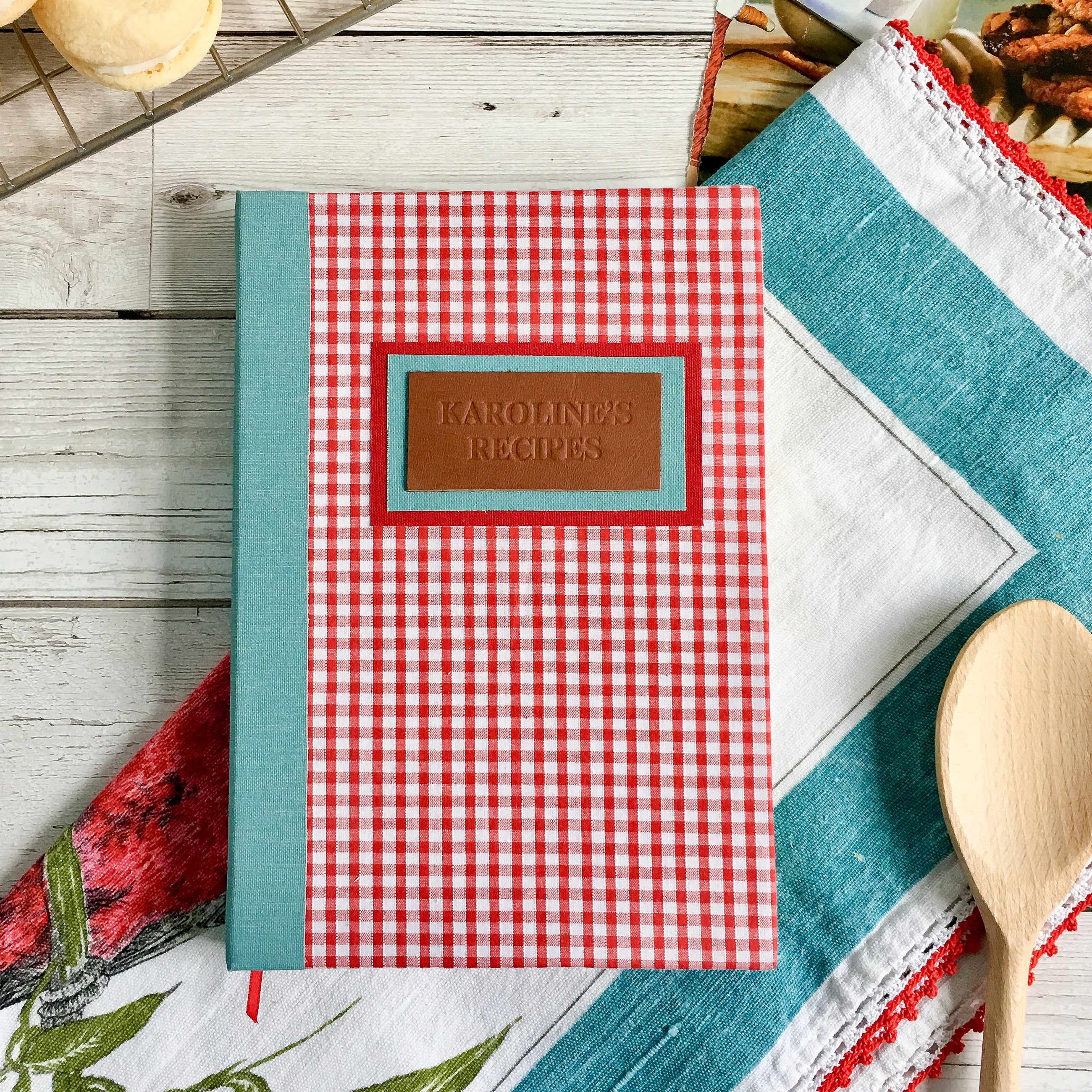 Personalised Recipe Journal, A5, Lined, Gift-Boxed - Gingham