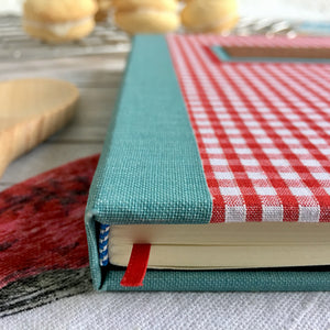 Personalised Recipe Journal, A5, Bullet - Gingham