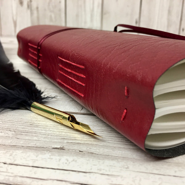 Personalised Leather Journal, A4, Blank, Gift-Boxed - Quill