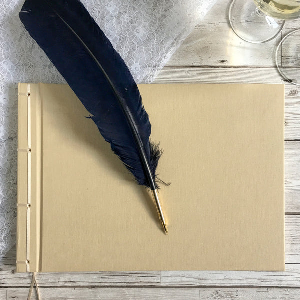 Guest Book, 30cm Square, Ribbon-Bound