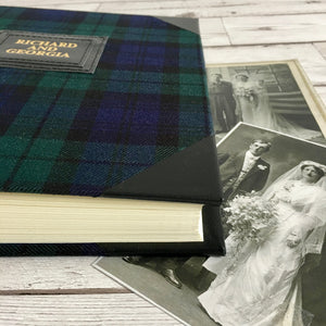 Bespoke Tartan and Leather Photo Album, Medium