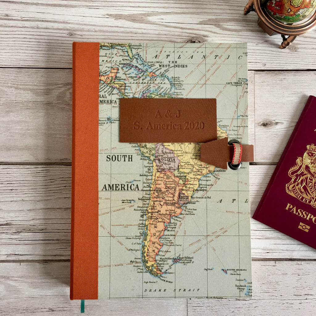 Personalised Country Request Travel Map Journal, Bullet
