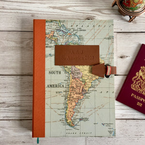 Personalised Country Request Travel Map Journal, Blank