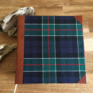 Bespoke Personalised Tartan and Leather Photo Album, Extra Large