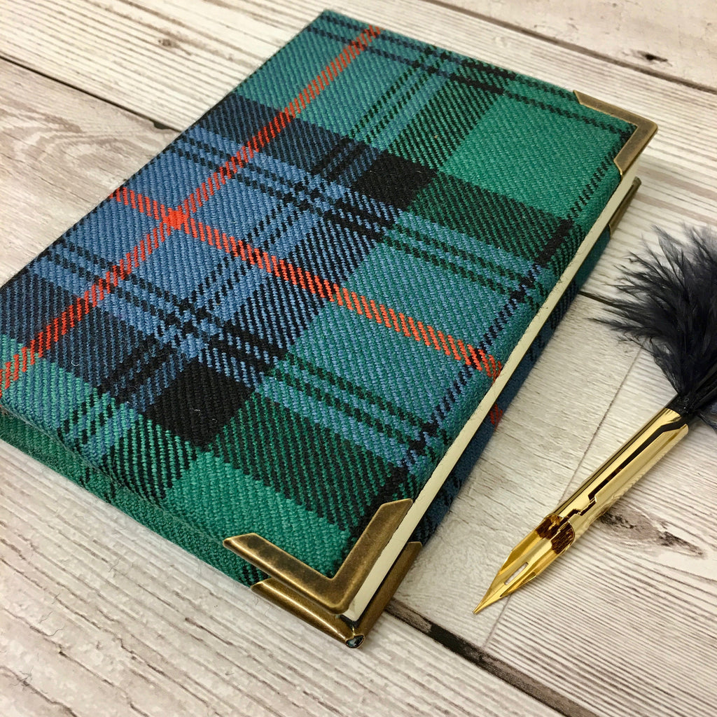 Personalised Tartan Commonplace Book, A6 Lined