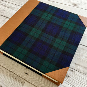 "Personalised ""Black Watch"" Tartan and Leather Album, Large"