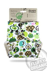 Petit LuLu Fitted Night Nappy Green Apples