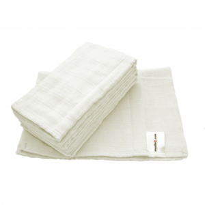 MuslinZ 6 Pack Muslin Prefold Size Two (Infant)