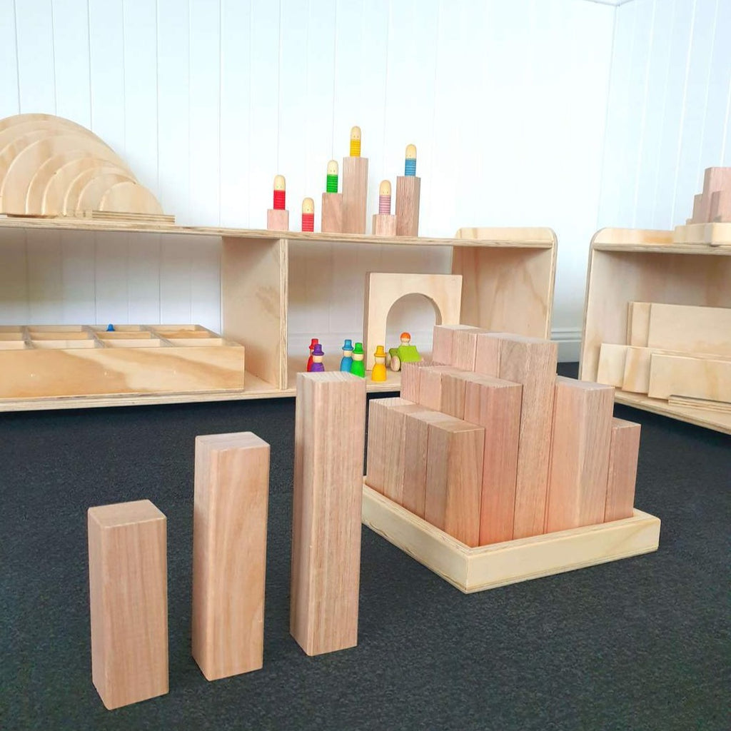 Wooden Building Blocks - 25 Piece Set (Large) - Dimple and Dot