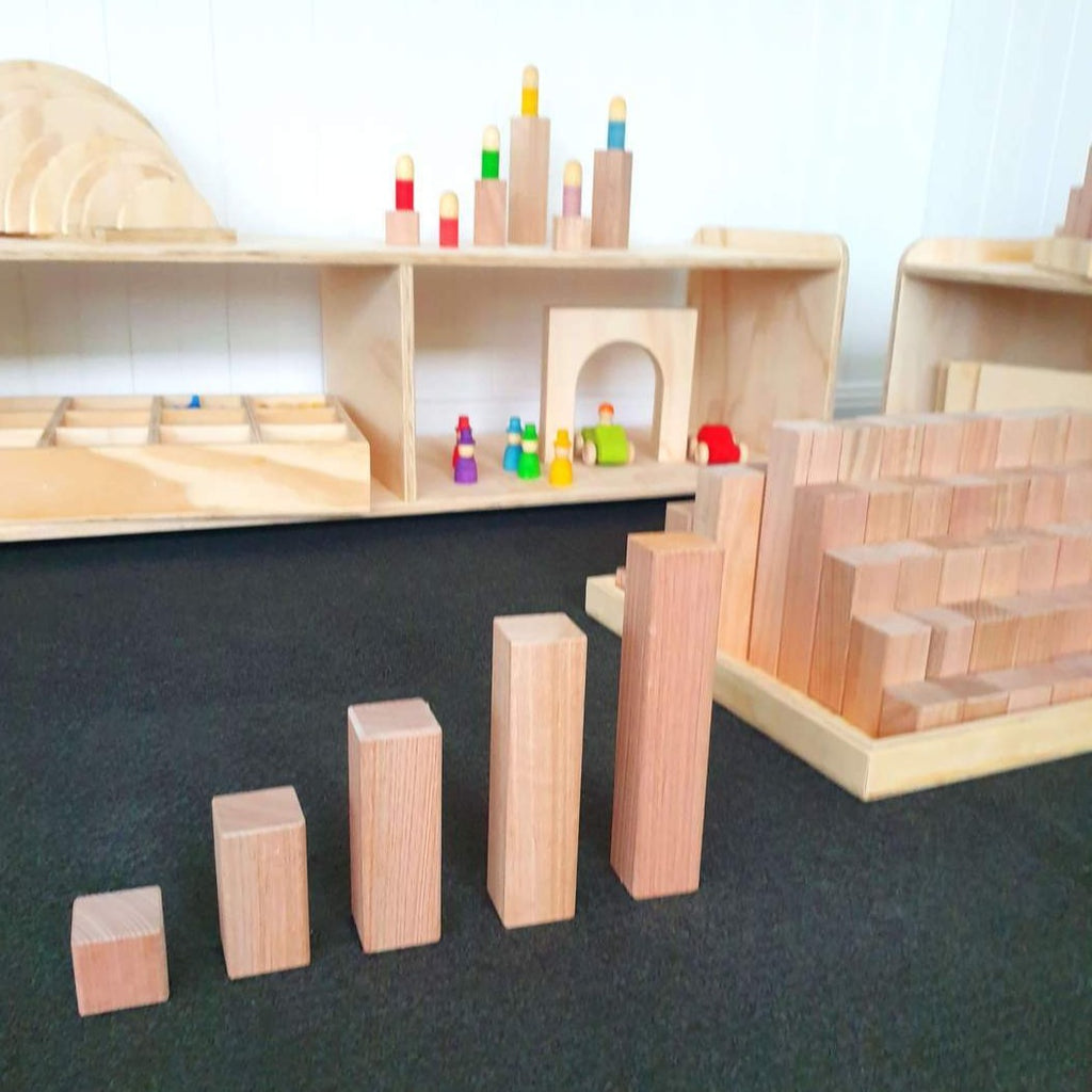 Wooden Building Blocks - 81 Piece Set - Dimple and Dot