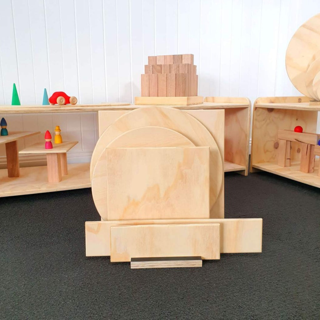 Wooden Building Blocks, Platforms and Archway Set - Dimple and Dot