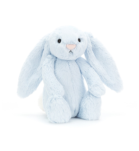 Jellycat Bashful Blue Bunny - Medium - Dimple and Dot