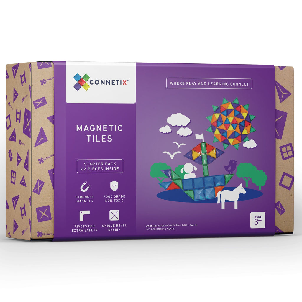 Connetix Tiles 62 Piece Set - Dimple and Dot