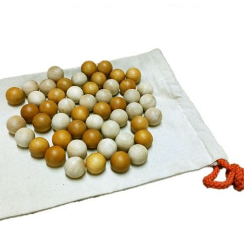 Two Tone Wooden Balls Set of 50 - Dimple and Dot