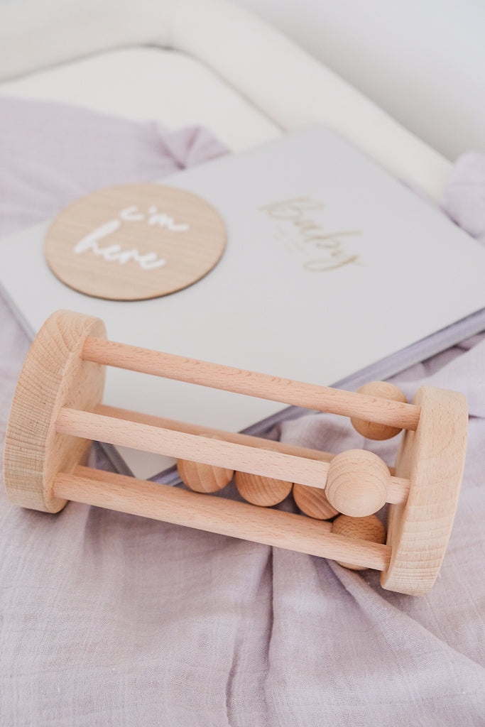 Wooden Rolling Rattle - Dimple and Dot