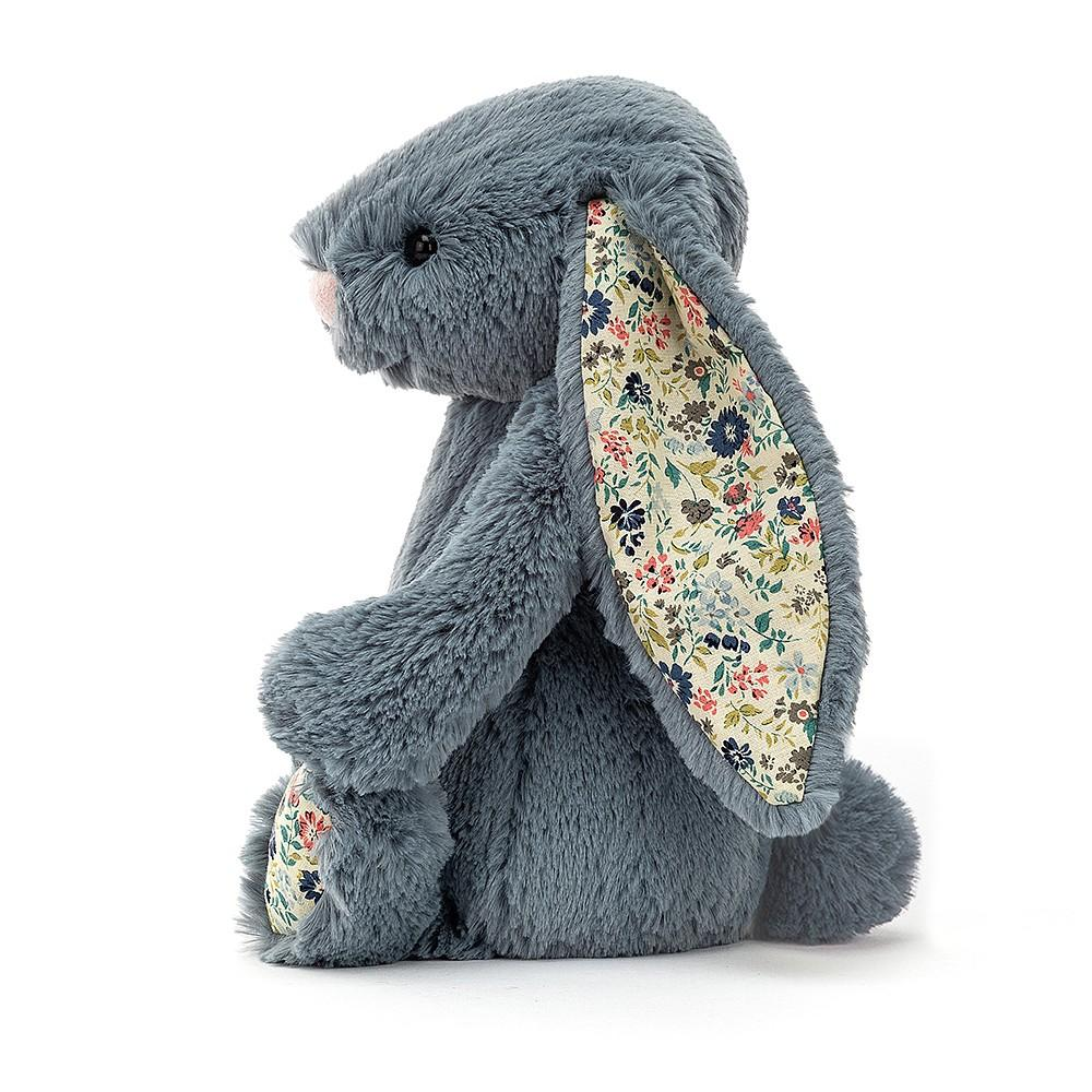 Jellycat Blossom Bashful Dusky Blue Bunny - Small - Dimple and Dot