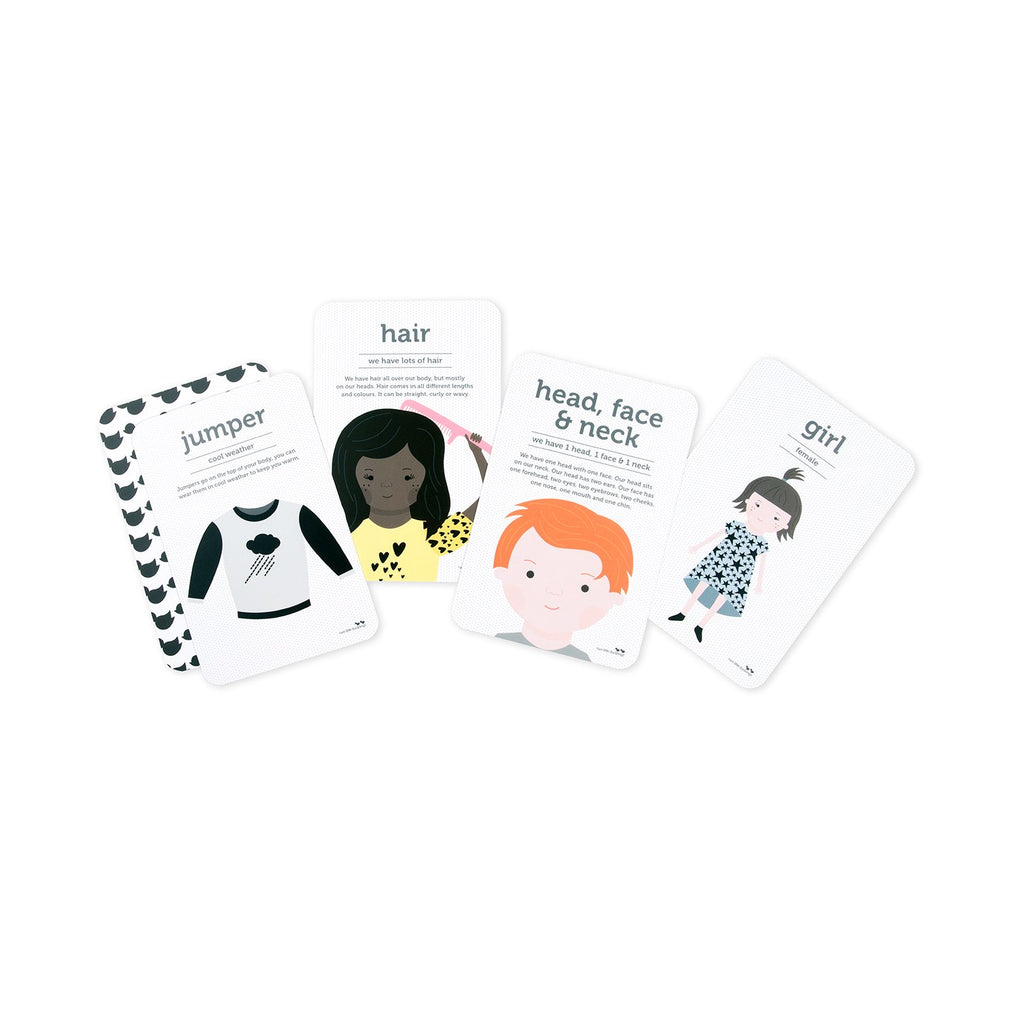 Body Parts and Clothing Flash Cards - Dimple and Dot