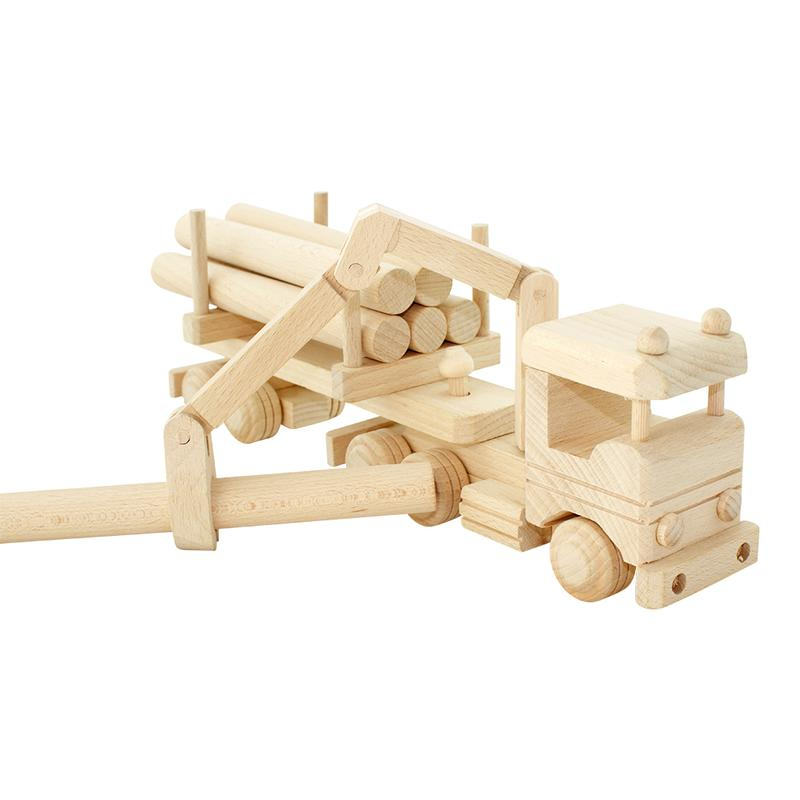 Wooden Truck With Logs & Crane - Dimple and Dot