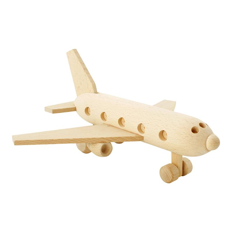 Wooden Toy Passenger Plane - Dimple and Dot