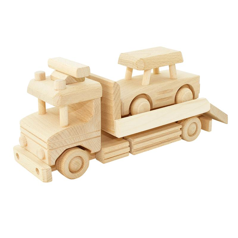 Wooden Tow Truck With Car - Dimple and Dot