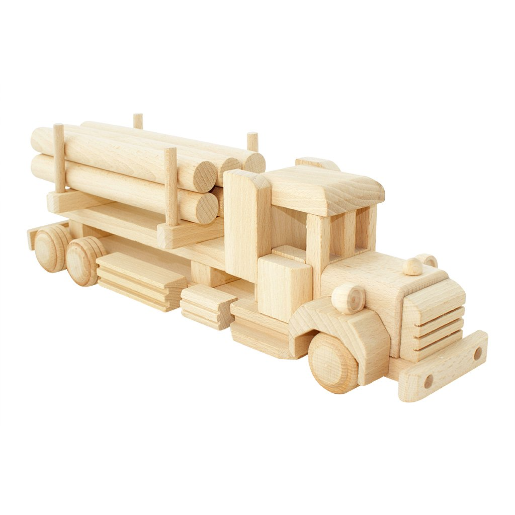 Wooden Truck With Logs - Dimple and Dot