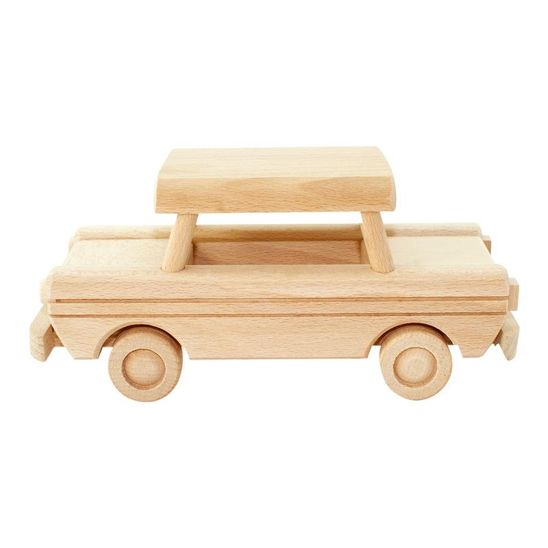 Large Wooden Car Trabant - Dimple and Dot