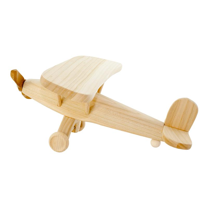 Large Wooden Toy Propeller Plane - Dimple and Dot