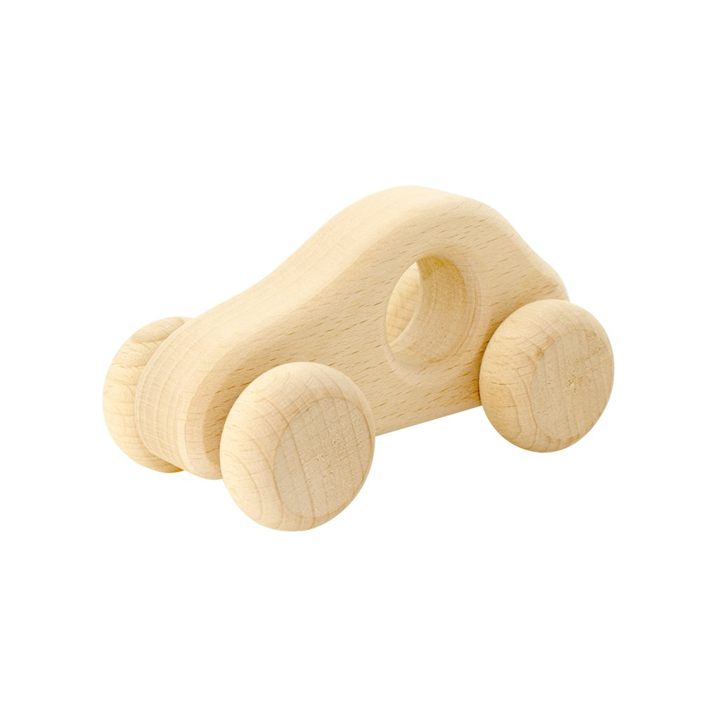 Wooden Push Car - Dimple and Dot