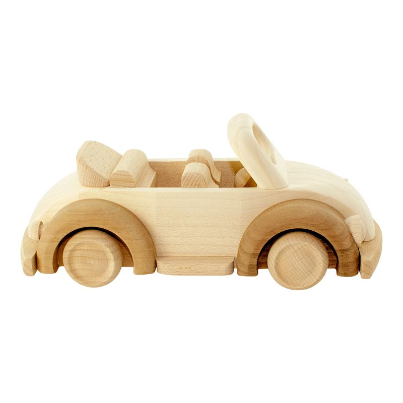 Wooden Toy Beetle Car - Dimple and Dot