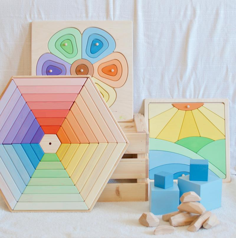 Wooden Sun Puzzle - Dimple and Dot