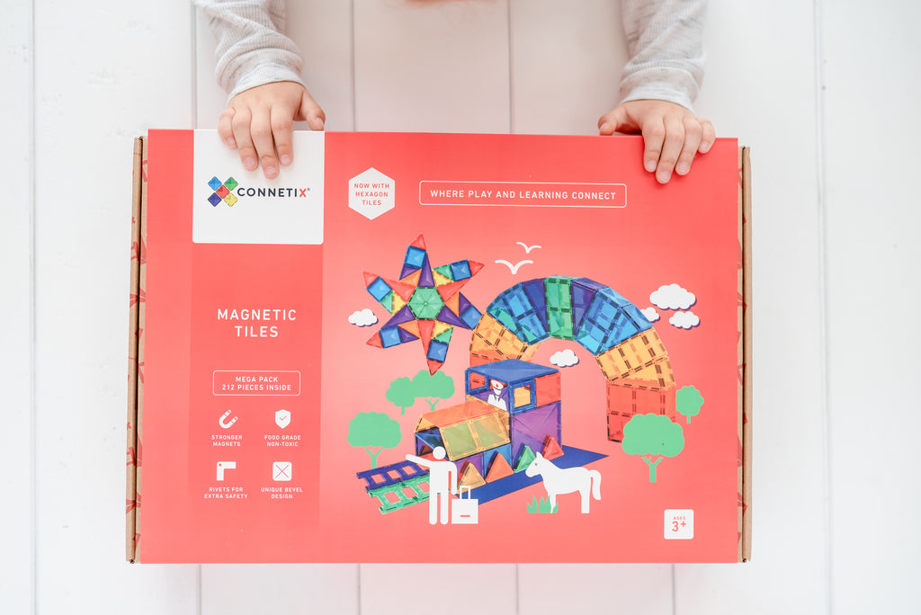 Connetix Tiles - 212 Piece Mega Pack - Dimple and Dot