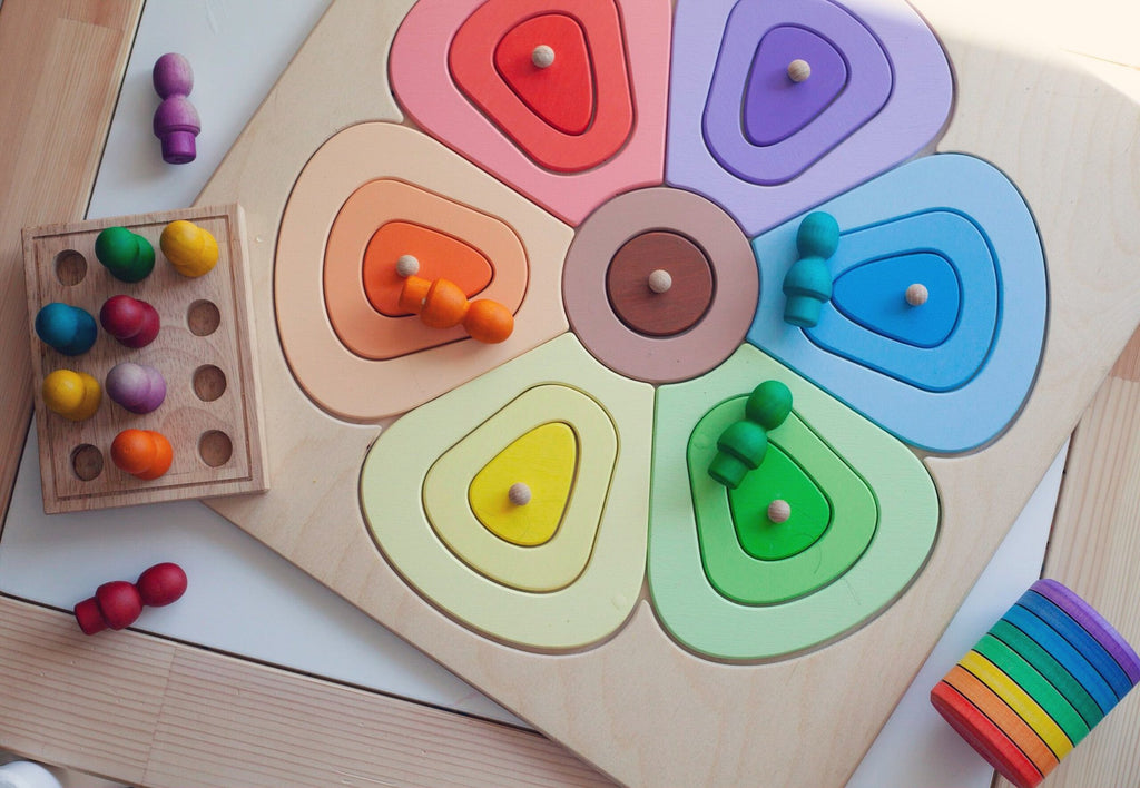 Wooden Puzzle Flower - Large - Dimple and Dot