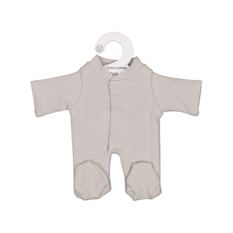 Grey Sleep Suit for 21cm Doll - Dimple and Dot