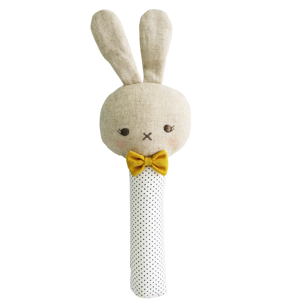 Bunny Squeaker - Navy Spot - Dimple and Dot