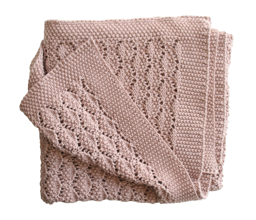 Organic Heritage Knit Baby Blanket - Blossom - Dimple and Dot