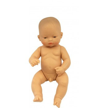 Miniland Asian Boy Baby - 32cm (Undressed) - Dimple and Dot
