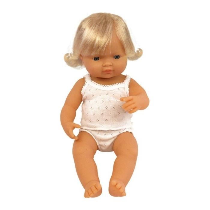 Miniland Caucasian Girl Doll - 38cm - Dimple and Dot