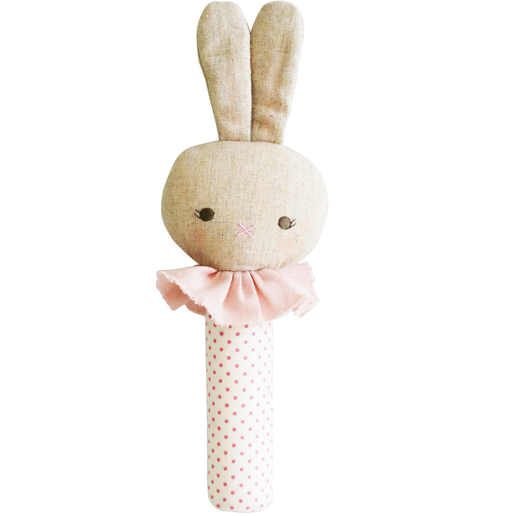 Bunny Squeaker - Pink Spot - Dimple and Dot
