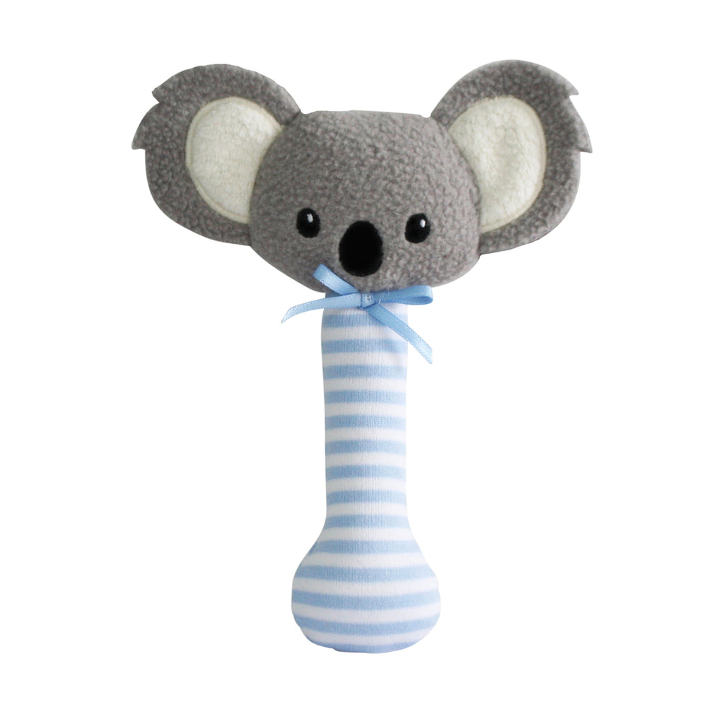Koala Stick Rattle - Blue - Dimple and Dot