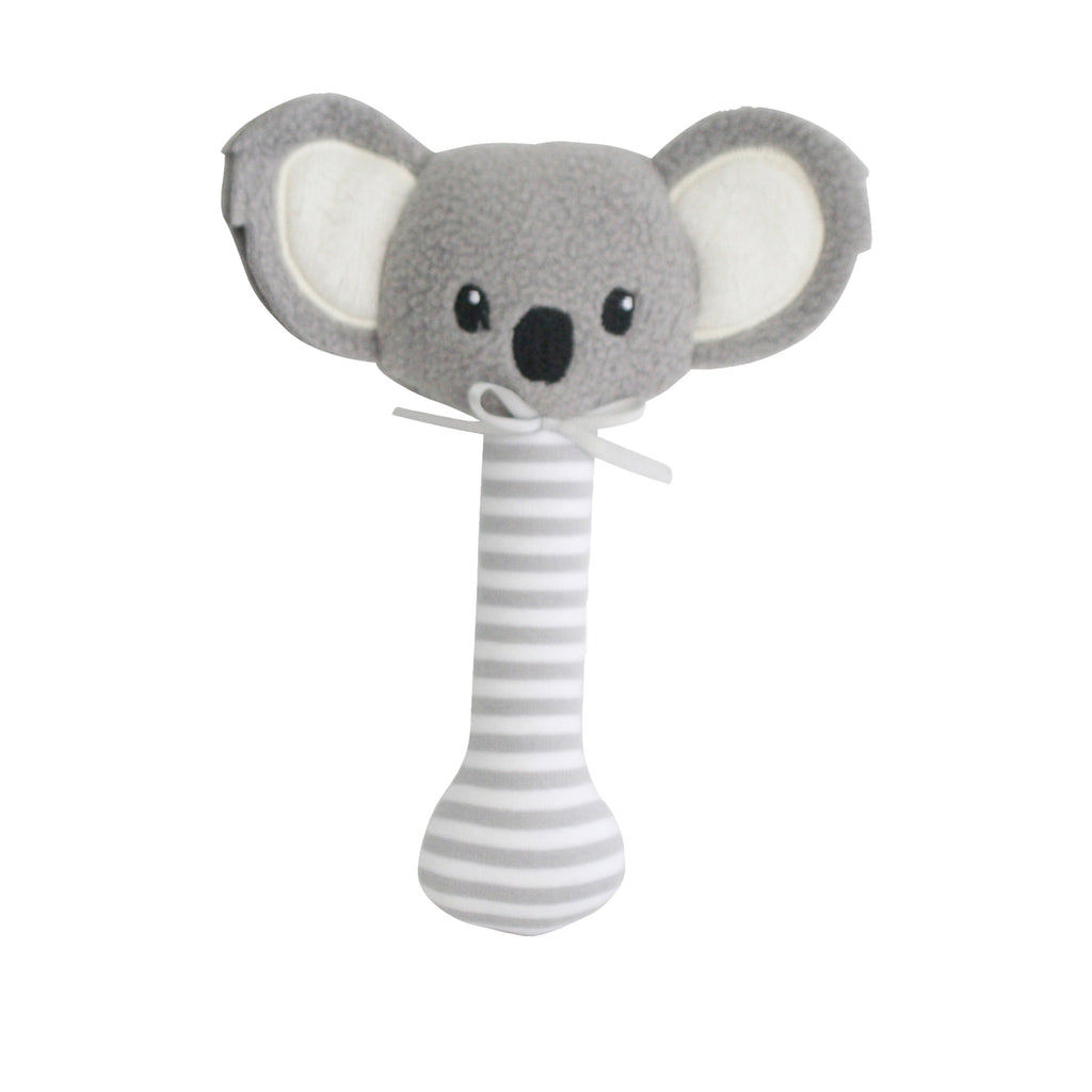 Koala Stick Rattle - Grey - Dimple and Dot