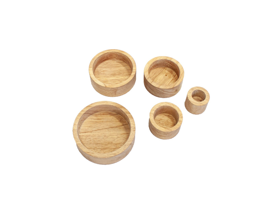 Natural Stacking Bowls - Dimple and Dot
