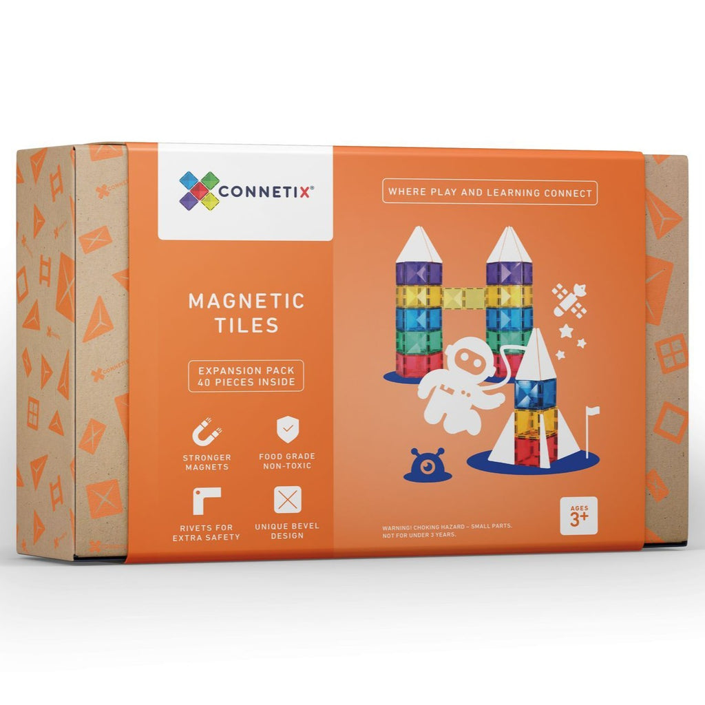 Connetix Tiles 40 Piece Expansion Pack - Dimple and Dot