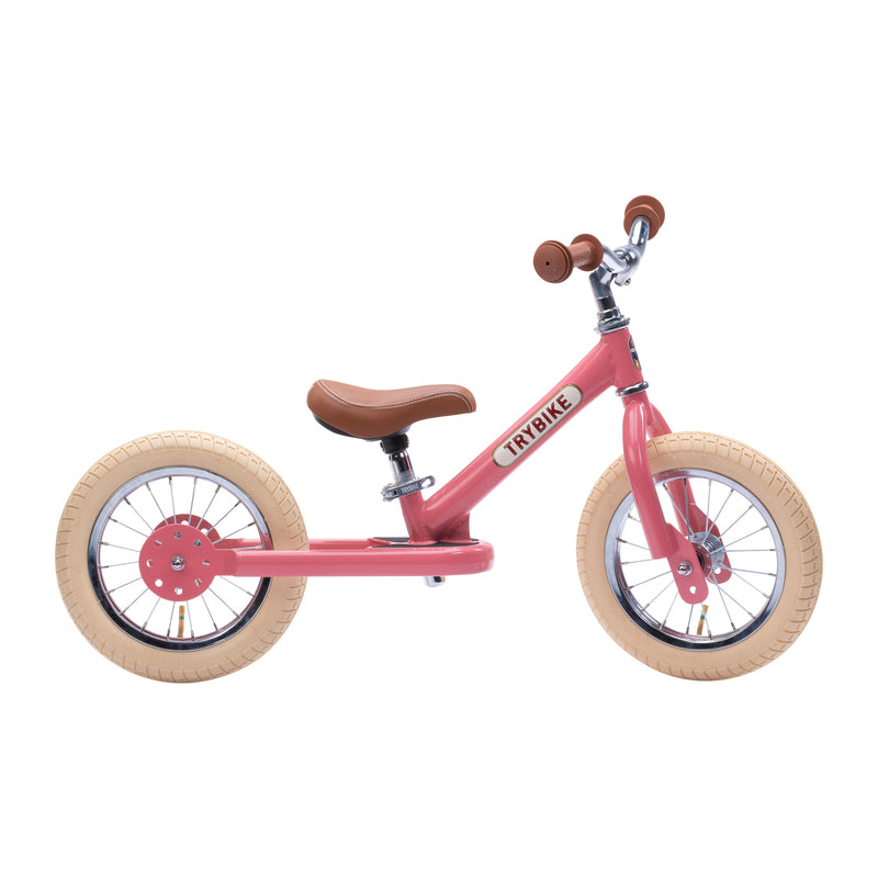 Trybike - Pink Vintage, Cream Tyres and Chrome (3 wheel) - Dimple and Dot