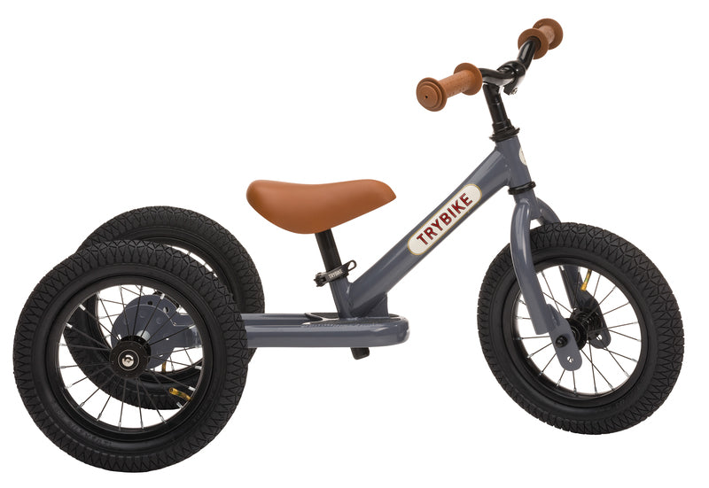 Trybike - Grey, Brown Seat and Grips (3 wheel) - Dimple and Dot