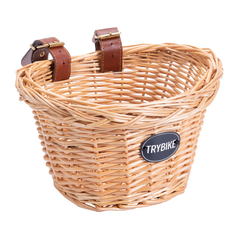 Woven Wicker Trybike Basket for Steel Bike - Dimple and Dot