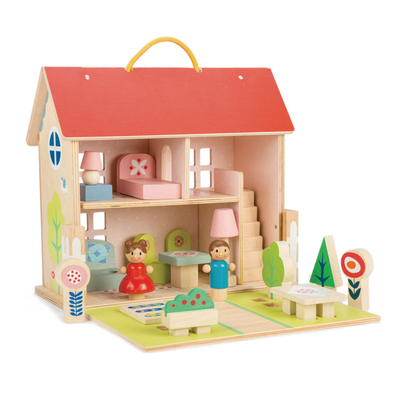Dolls House Set with Furniture and Dolls - Dimple and Dot