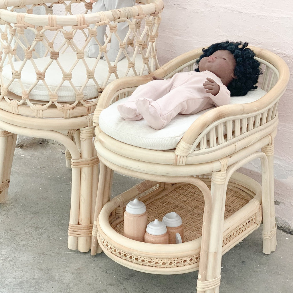 Rattan Dolls Change Table - Dimple and Dot