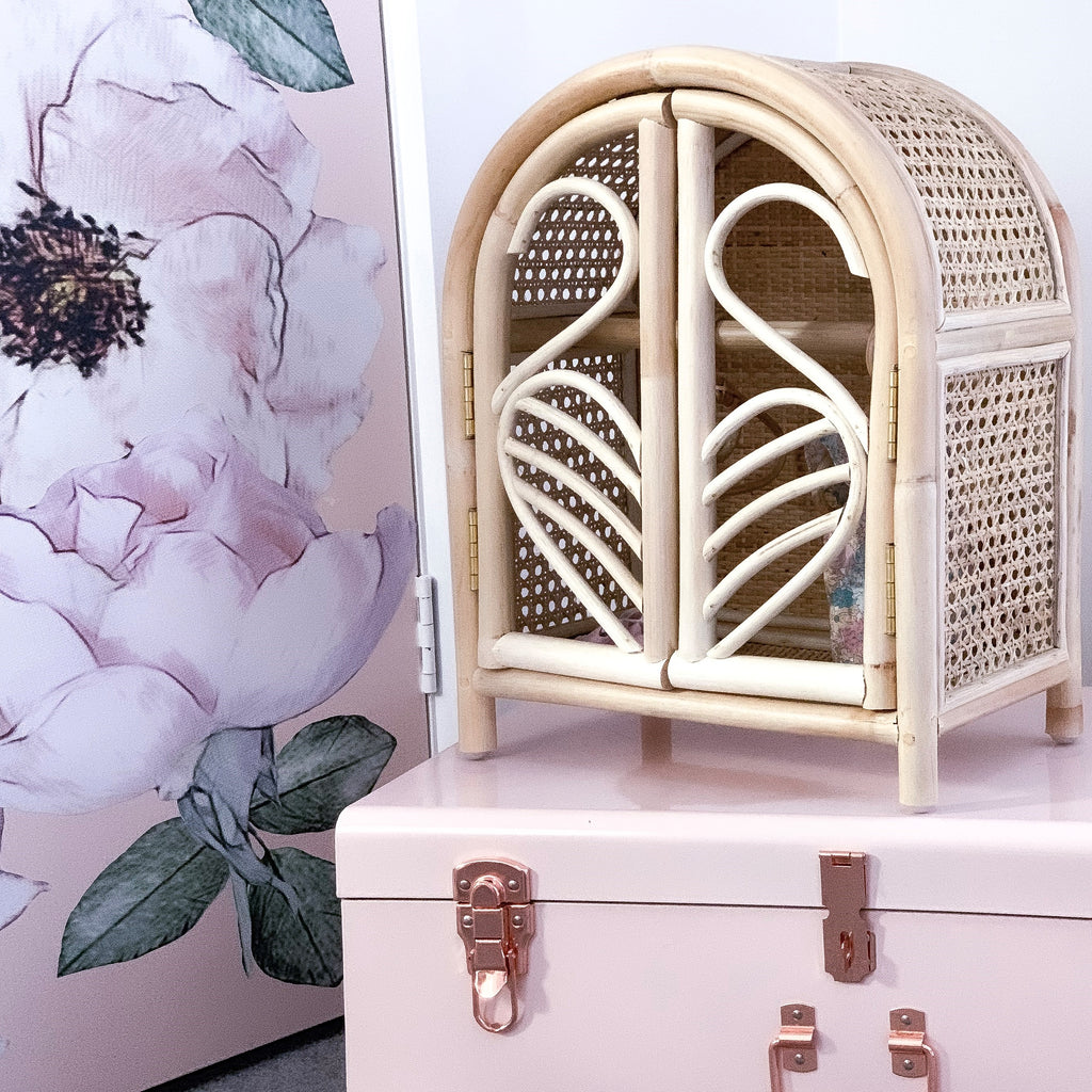 Rattan Dolls Wardrobe - Dimple and Dot