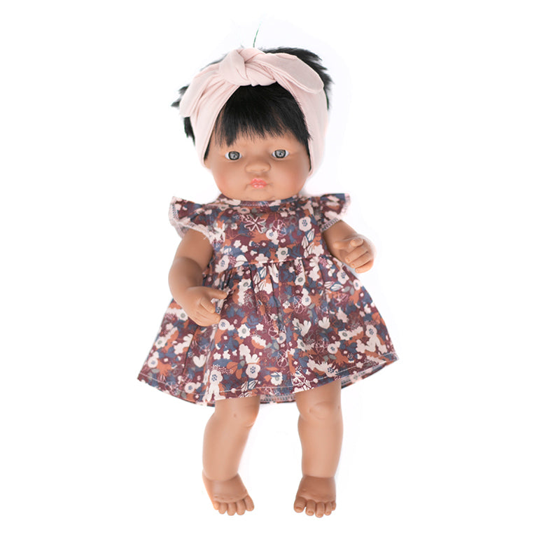 Flower Fields Dress for 38cm Doll - Dimple and Dot